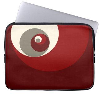 Gouden Verhouding (Rode) Cirkels Laptop Sleeve