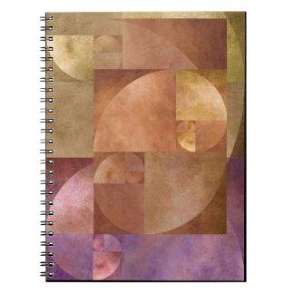 Gouden Verhouding, Spiraal Fibonacci Notitieboeken