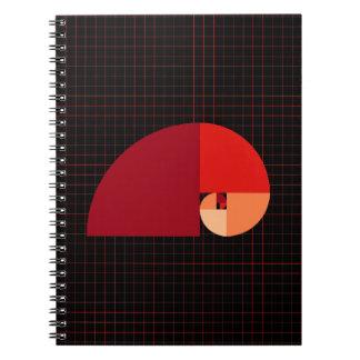 Gouden Verhouding, Spiraal Fibonacci Ringband Notitieboek