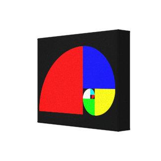 Gouden Verhouding, Spiraal Fibonacci Stretched Canvas Afdrukken