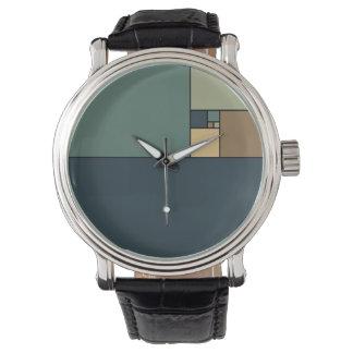 Gouden Verhouding Vierkanten (Neutrals) Horloge