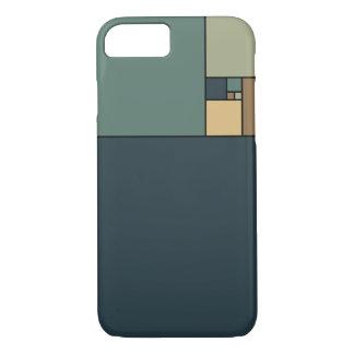 Gouden Verhouding Vierkanten (Neutrals) iPhone 7 Hoesje