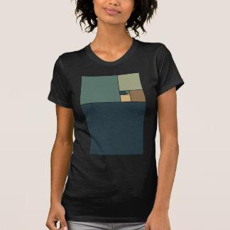 Gouden Verhouding Vierkanten T-shirts