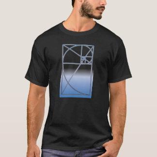 Gouden Verhouding wit-Blauw T Shirt