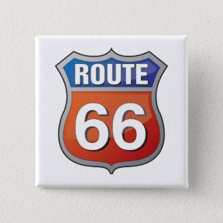 Goupille de l'itinéraire 66 badge carré 5 cm