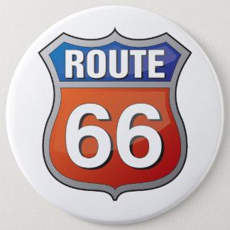 Goupille de l'itinéraire 66 badge rond 15,2 cm