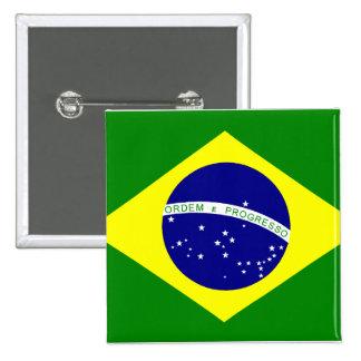 Goupille Drapeau du Brésil Badge Carré 5 Cm