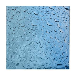 Gouttelettes d'eau bleue petit carreau carré