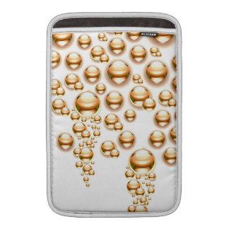 Gouttelettes d'eau de sépia poches macbook