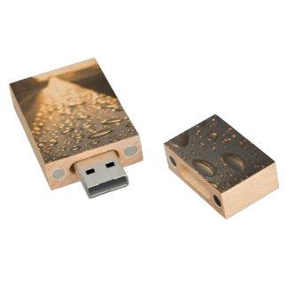 Gouttelettes élégantes sur le rail - clé USB 2.0 en bois