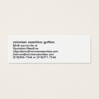 gouttières sans couture de rainman, 8548 mini carte de visite