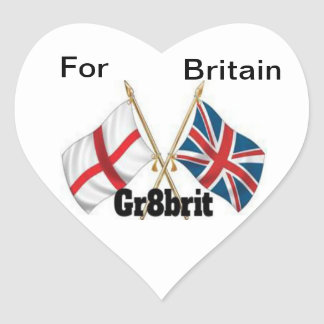 Gr8brit, autocollants de coeur, brillants