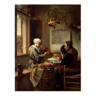 Grâce avant la viande, 1660 carte postale