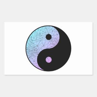 Gradient en pastel Yin Yang Sticker Rectangulaire