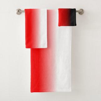 Gradient noir, rouge et blanc