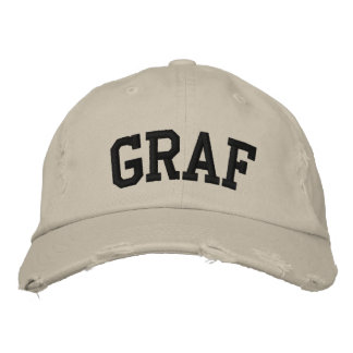 Graf Embroidered Hat Casquettes Brodées