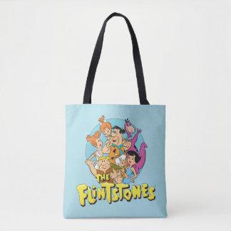 Grafische Flintstones en de Familie van het Puin Draagtas