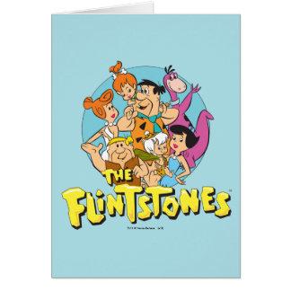 Grafische Flintstones en de Familie van het Puin Kaart