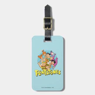 Grafische Flintstones en de Familie van het Puin Kofferlabels