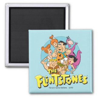 Grafische Flintstones en de Familie van het Puin Magneet
