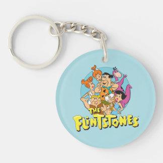 Grafische Flintstones en de Familie van het Puin Sleutelhanger