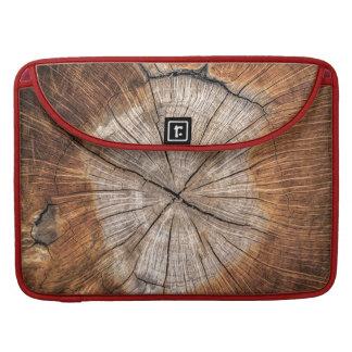 Grain en bois, rouge housse pour macbook