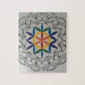 Graine colorée de mandala de la vie puzzle