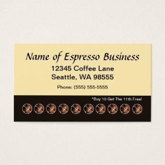 Grains de café drôles de carte perforée de café