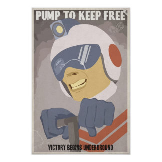Grand - affiche de propagande de jeu électronique