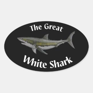 grand autocollant de requin blanc