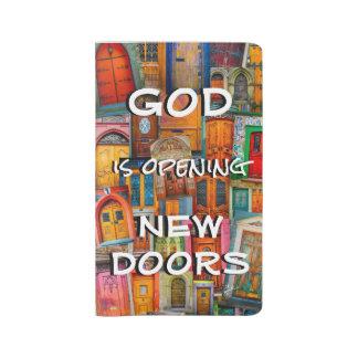 Grand Carnet Moleskine Dieu ouvre unique coloré de portes