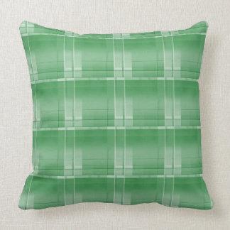 """Grand carreau vert 20"""" de plaid x 20"""" coussin décoratif"""