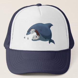 Grand casquette de requin blanc