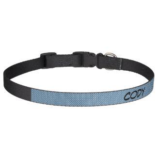 Grand collier de chien de motif bleu