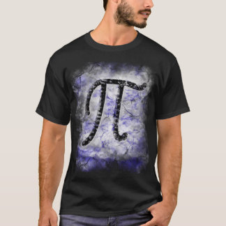 grand de T-shirt de symbole de pi rasé