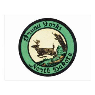 Grand Forks vintage le Dakota du Nord Cartes Postales