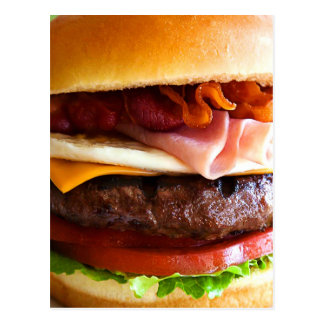Grand hamburger drôle carte postale