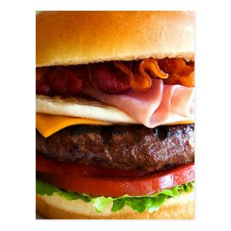 Grand hamburger drôle cartes postales