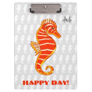 Grand jour heureux de l'hippocampe | de porte-bloc