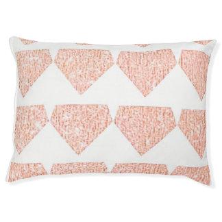 Grand lit de chien d'or rose