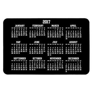 Grand magnet flexible du calendrier 2017 annuels