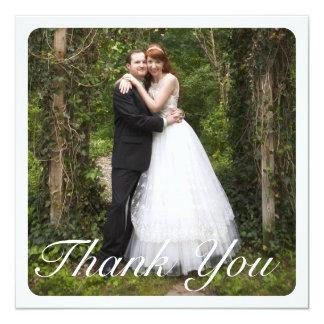 Grand Merci carré de mariage de photo dans le Carton D'invitation 13,33 Cm