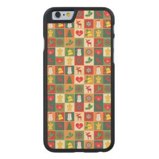 Grand motif de Noël Coque En Érable iPhone 6 Case