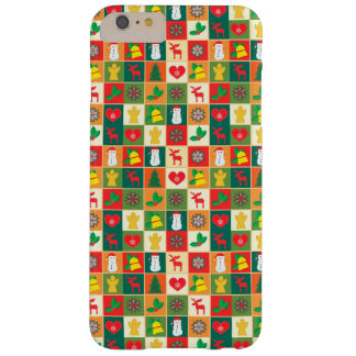 Grand motif de Noël Coque iPhone 6 Plus Barely There