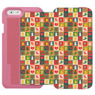 Grand motif de Noël Coque-portefeuille iPhone 6 Incipio Watson™