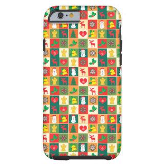 Grand motif de Noël Coque Tough iPhone 6