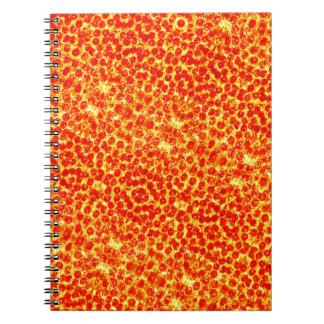 Grand motif de pizza carnet