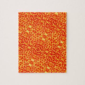 Grand motif de pizza puzzles