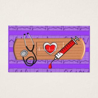 Grand pourpre Bandaid de cartes de visite médicaux