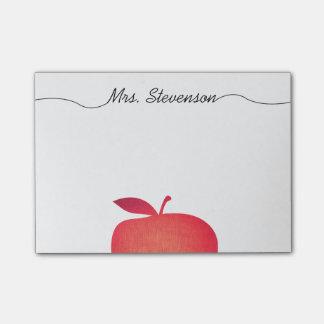 Grand professeur d'école primaire rouge d'Apple Post-it®